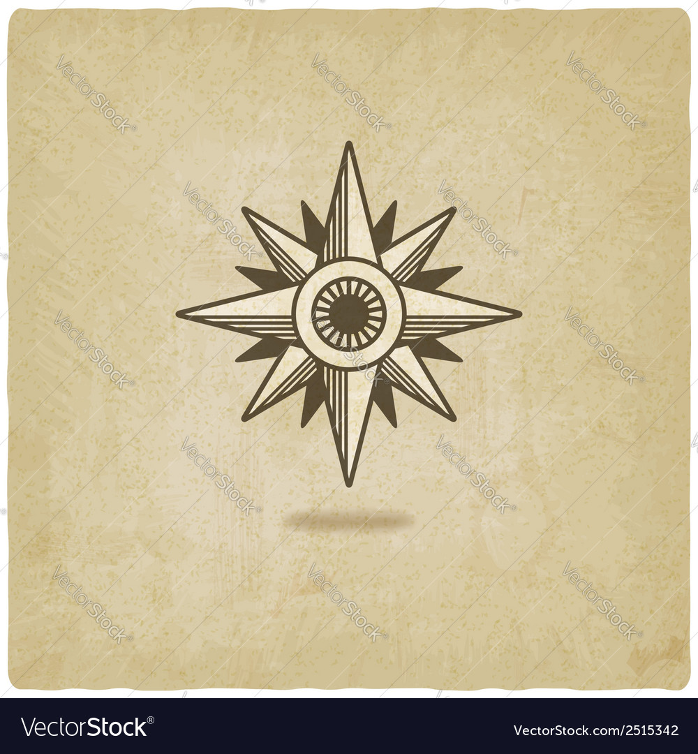 Wind rose old background vector | Price: 1 Credit (USD $1)