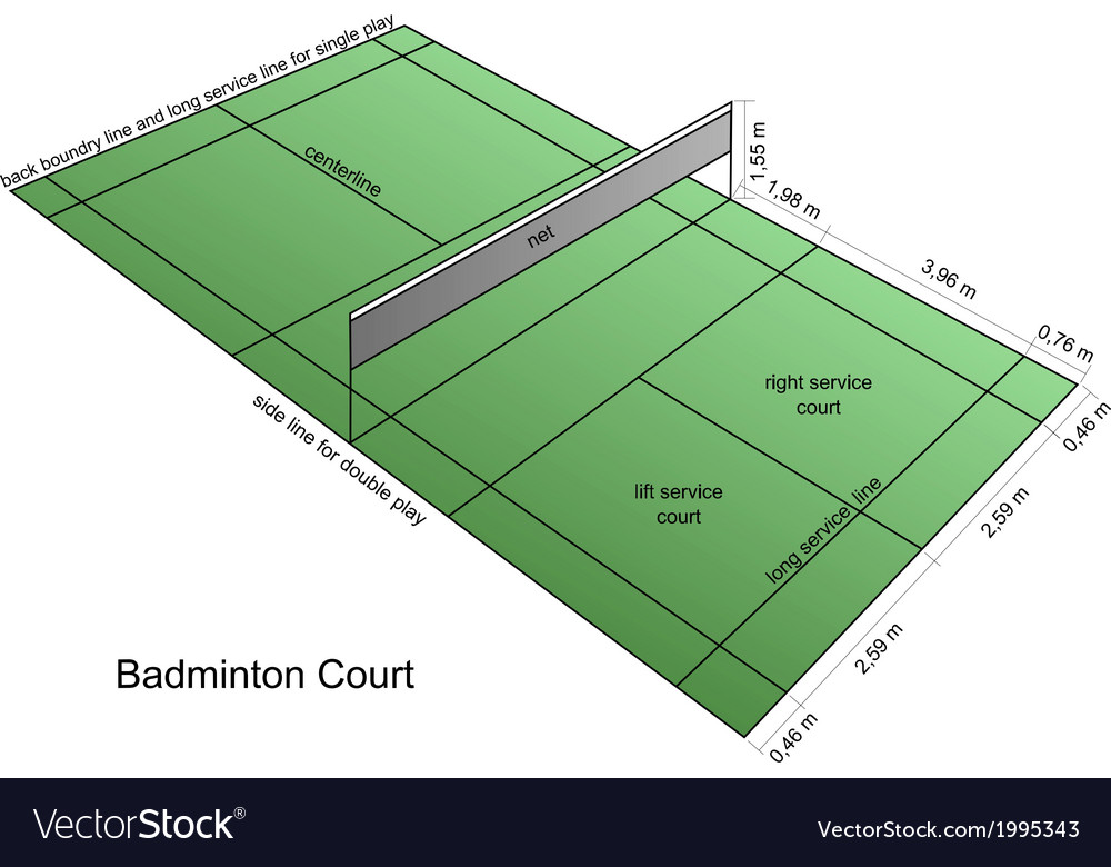 Badminton court vector | Price: 1 Credit (USD $1)