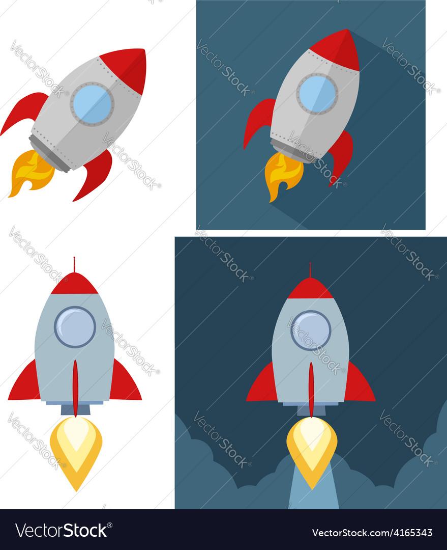 Cartoon rocket icons vector | Price: 1 Credit (USD $1)