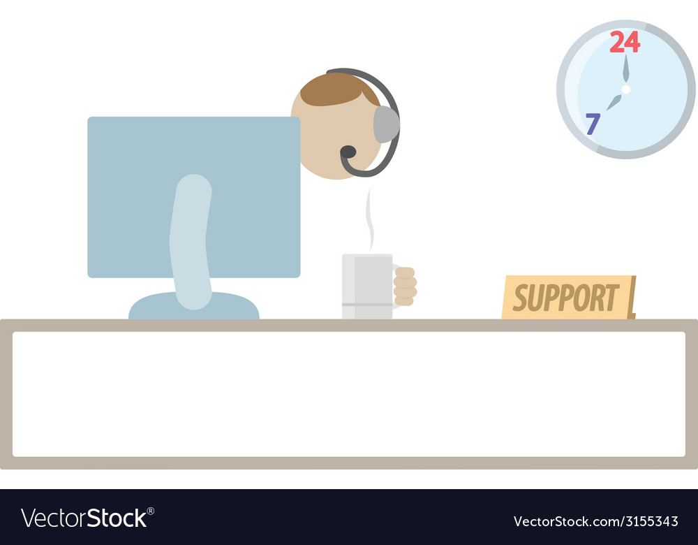 Customer support service vector   Price: 1 Credit (USD $1)