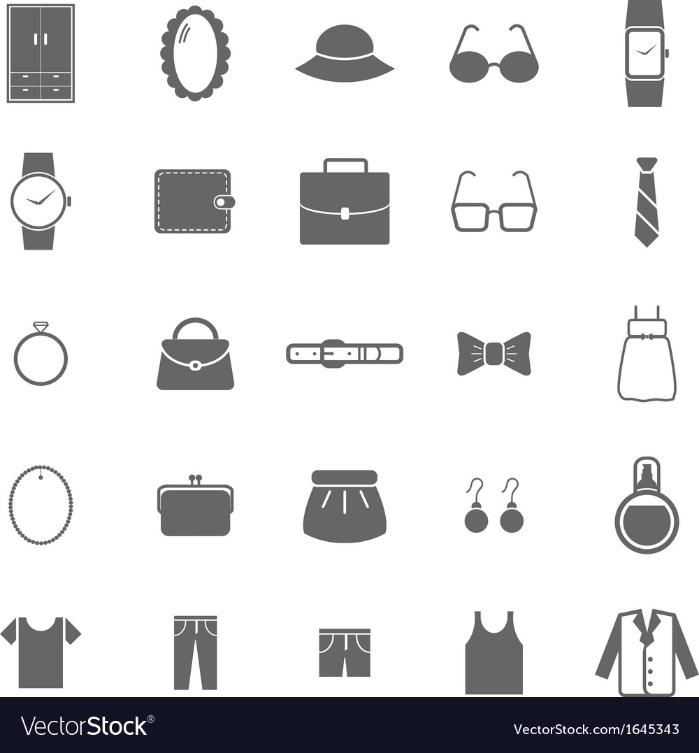Dressing icons on white background vector | Price: 1 Credit (USD $1)