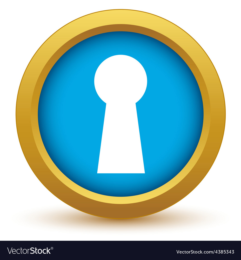 Gold keyhole icon vector | Price: 1 Credit (USD $1)