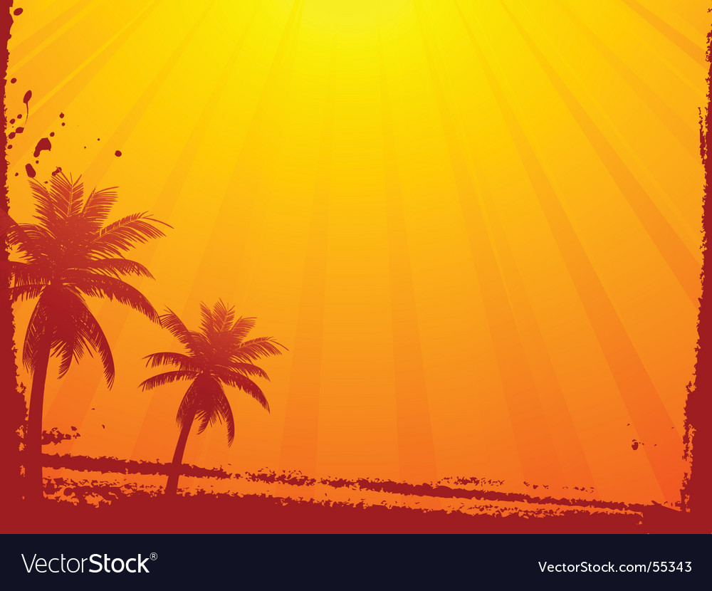 Grunge summer sunset vector | Price: 1 Credit (USD $1)