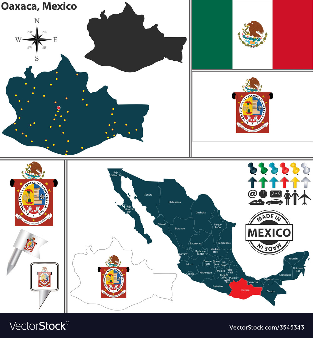 Map of oaxaca vector | Price: 1 Credit (USD $1)
