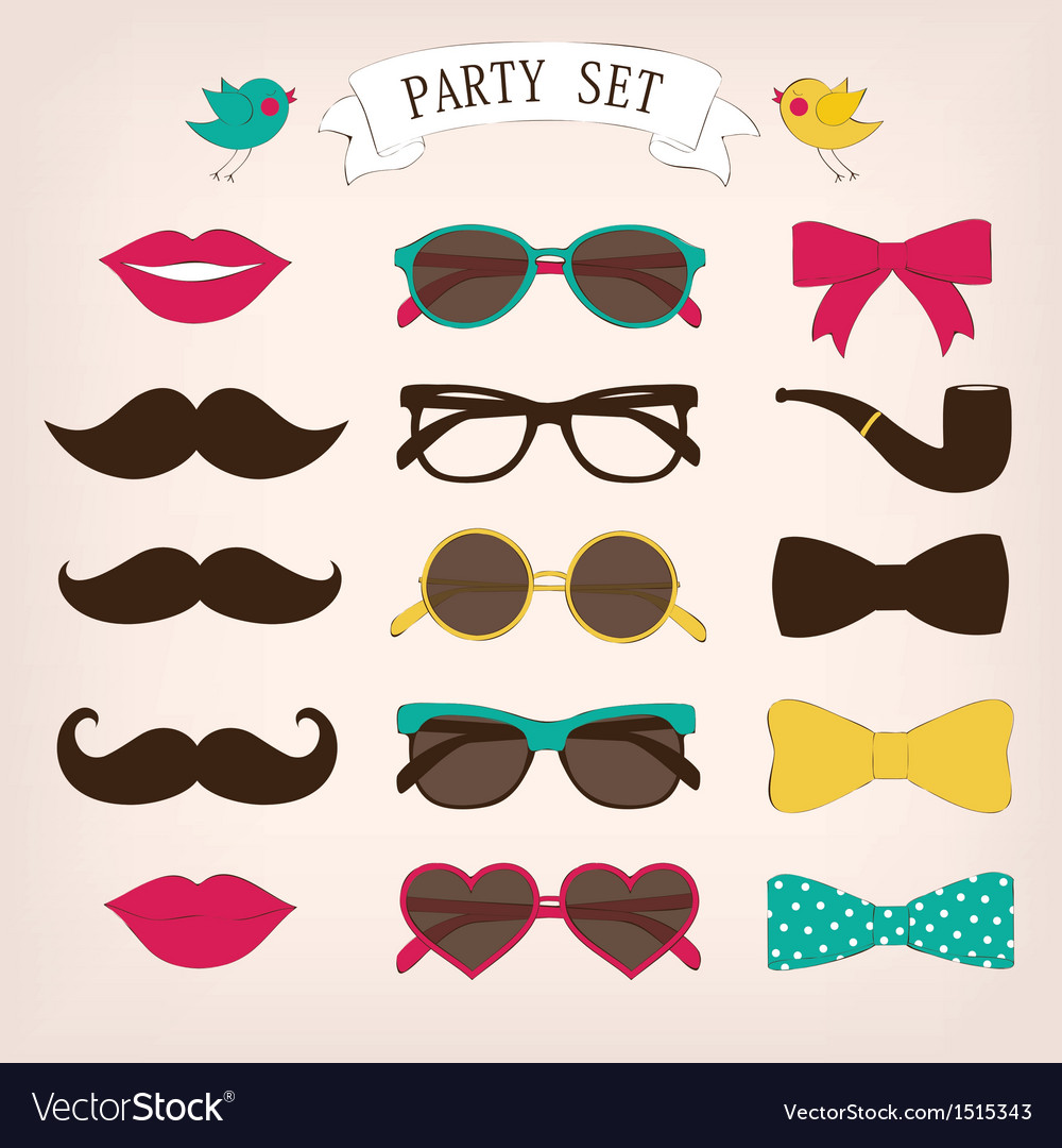 Party set vector | Price: 1 Credit (USD $1)