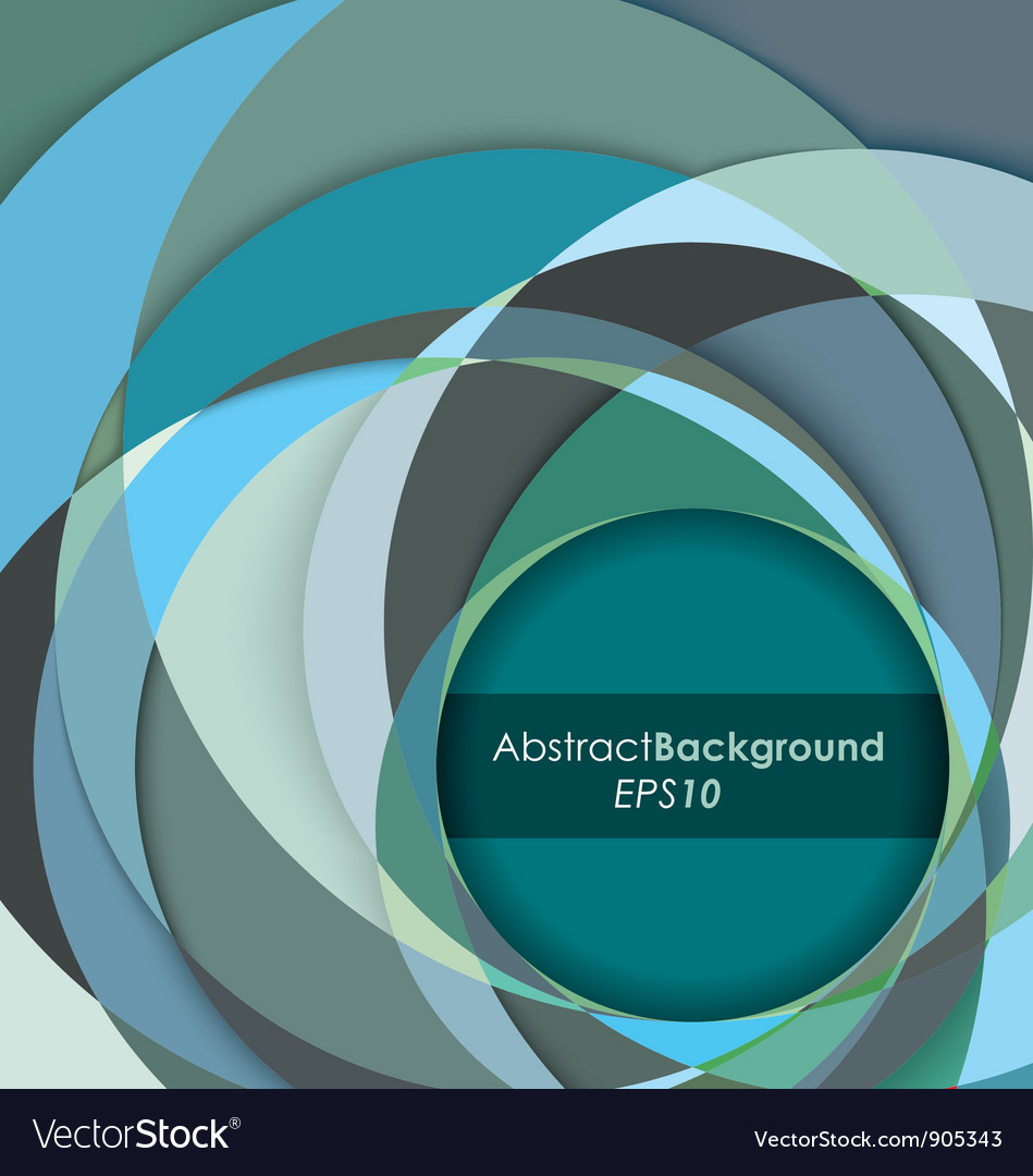 Teal fractal abstract background vector | Price: 1 Credit (USD $1)