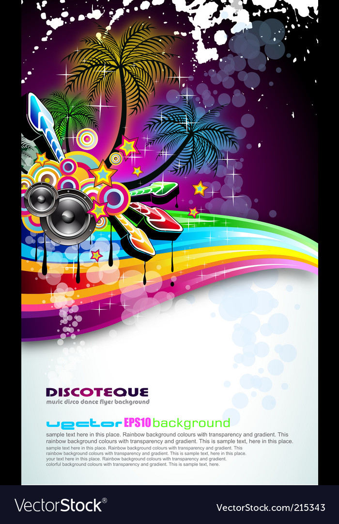 Tropical disco dance background vector | Price: 3 Credit (USD $3)