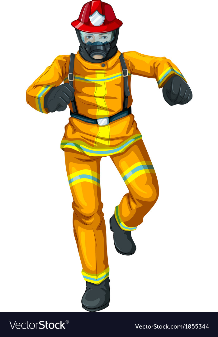 A firefighter vector | Price: 1 Credit (USD $1)
