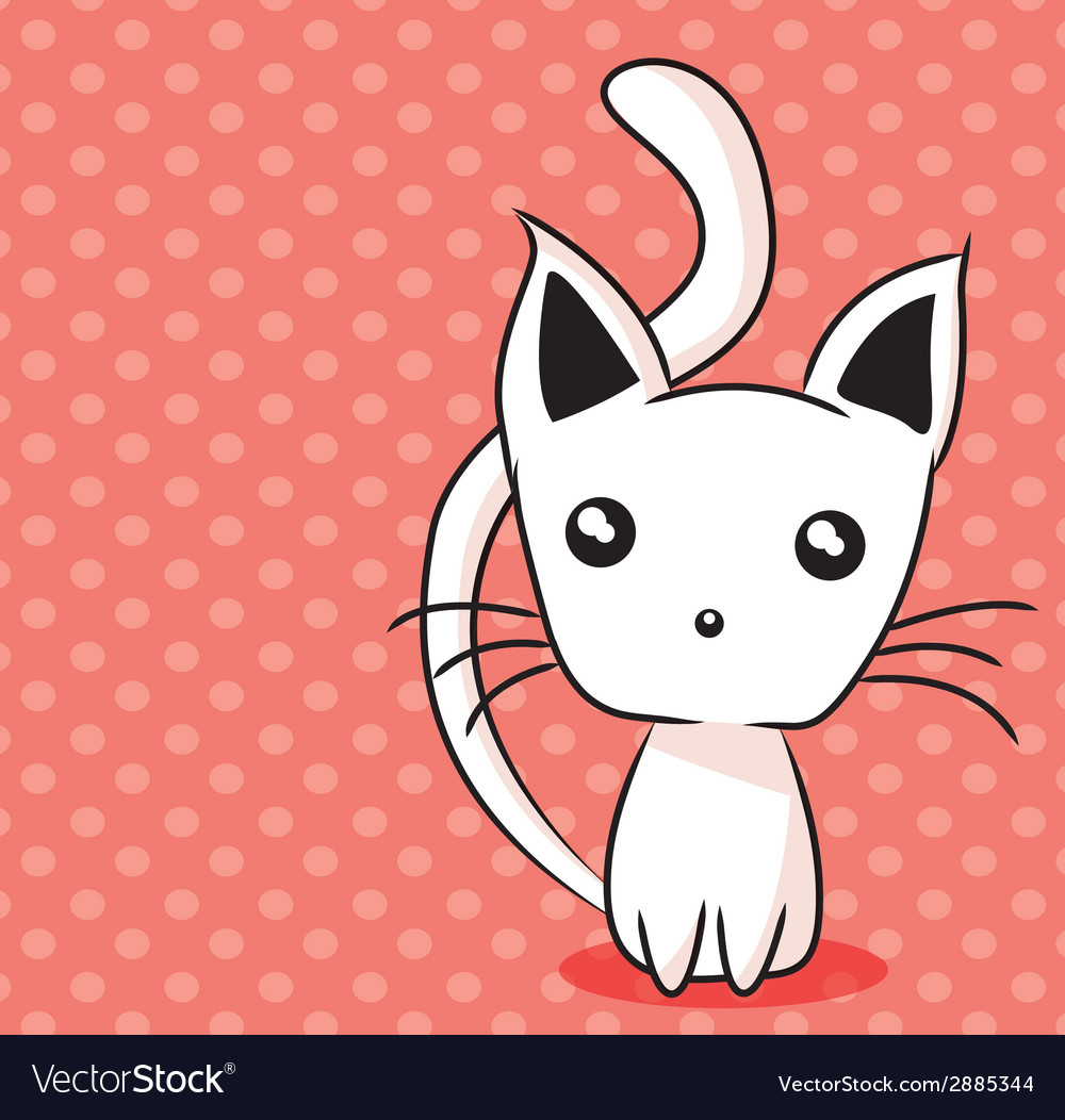 Adorable kitten vector | Price: 1 Credit (USD $1)