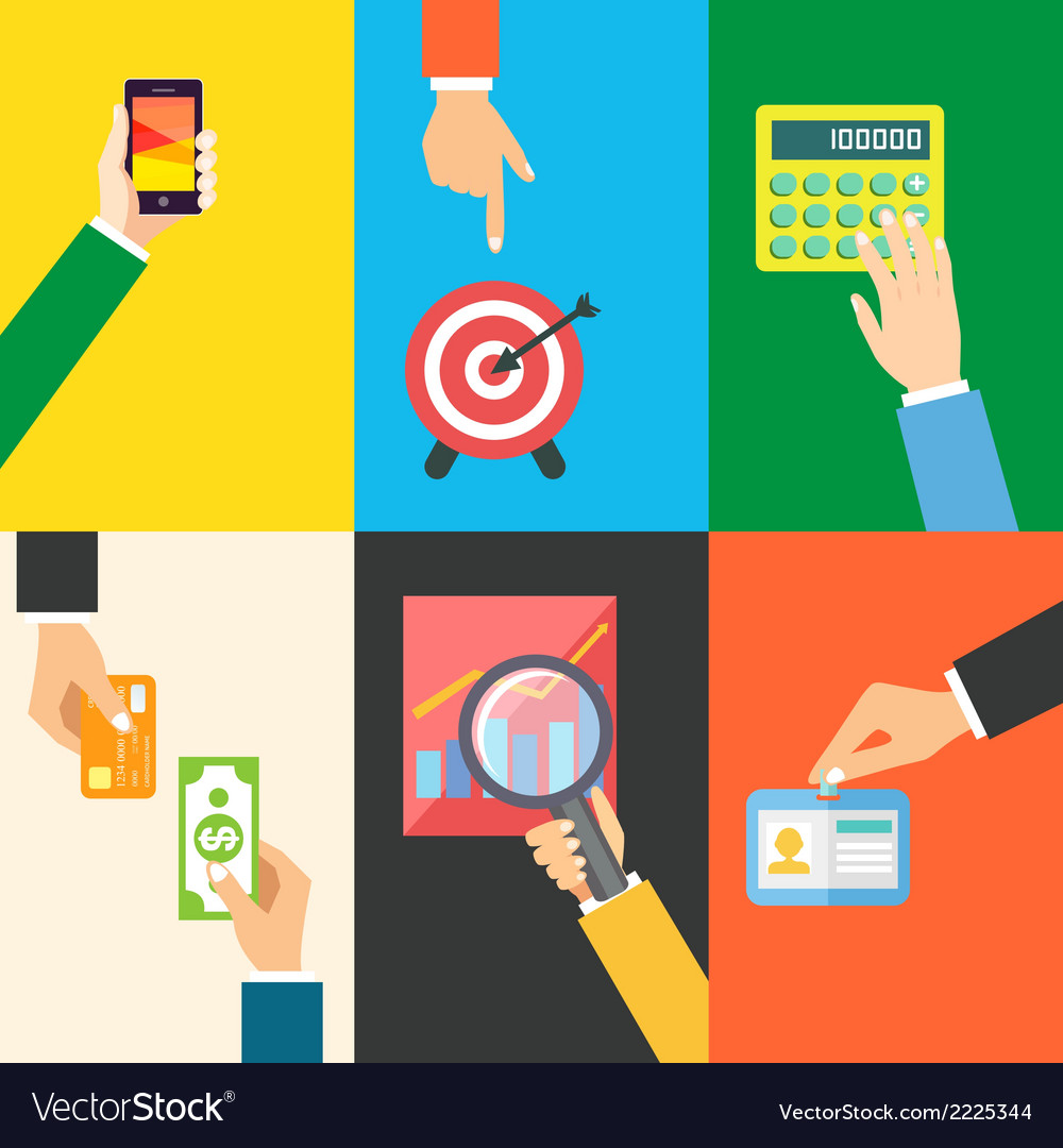 Business hands icons vector   Price: 1 Credit (USD $1)