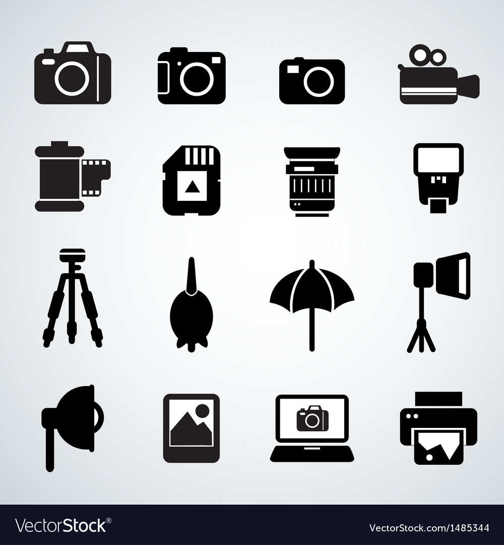 Camera accessories vector | Price: 3 Credit (USD $3)