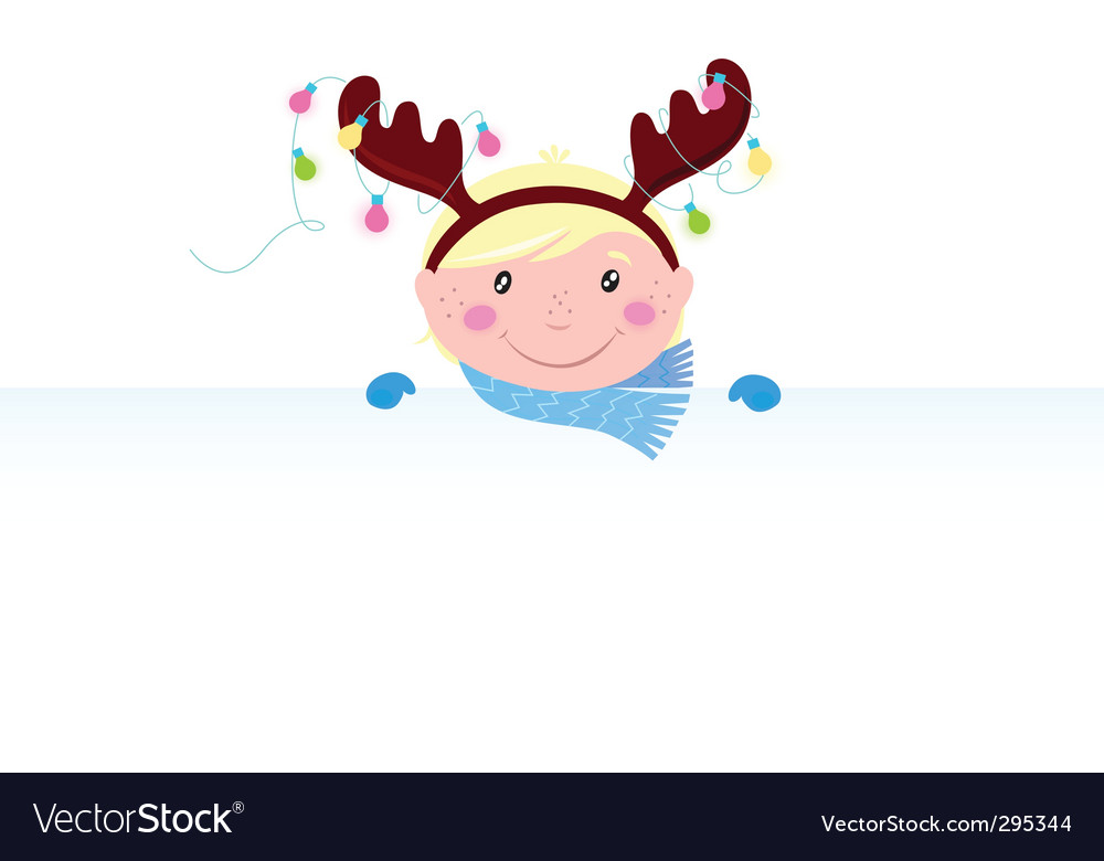 Christmas reindeer boy vector | Price: 1 Credit (USD $1)
