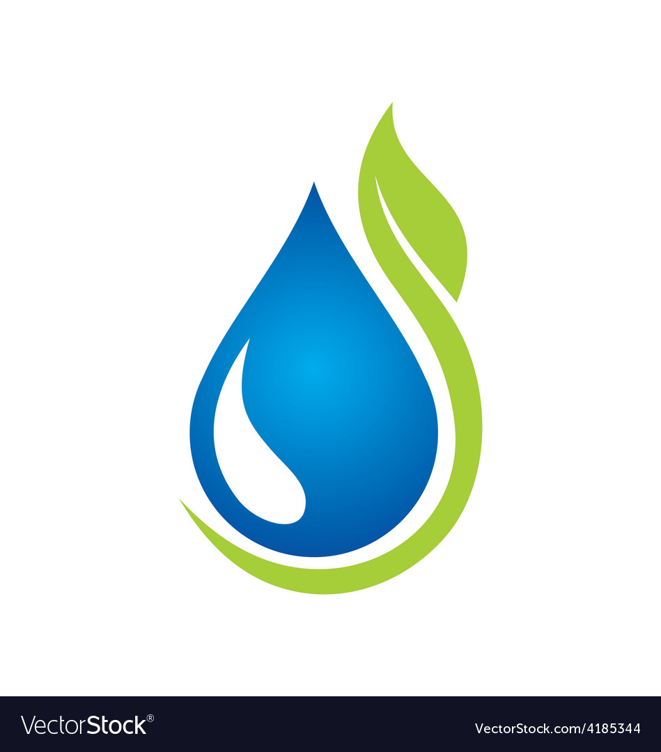 Clean water green leaf ecology logo vector   Price: 1 Credit (USD $1)