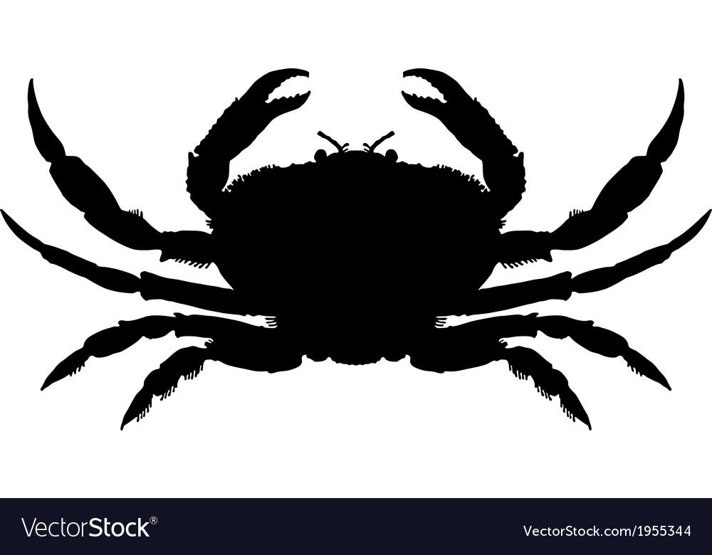 Crab silhouette vector | Price: 1 Credit (USD $1)