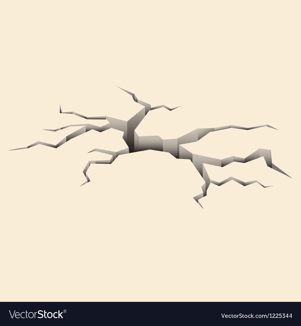 Cracked ground vector | Price: 1 Credit (USD $1)