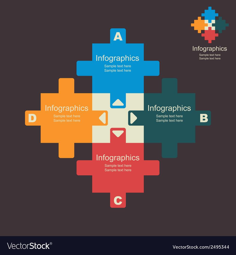 Creative puzzle info-graphics vector | Price: 1 Credit (USD $1)