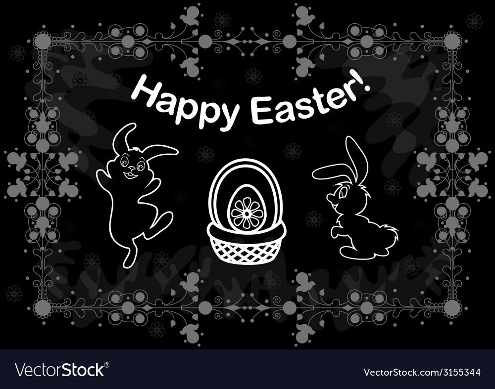 Easter background with bunnies vector | Price: 1 Credit (USD $1)