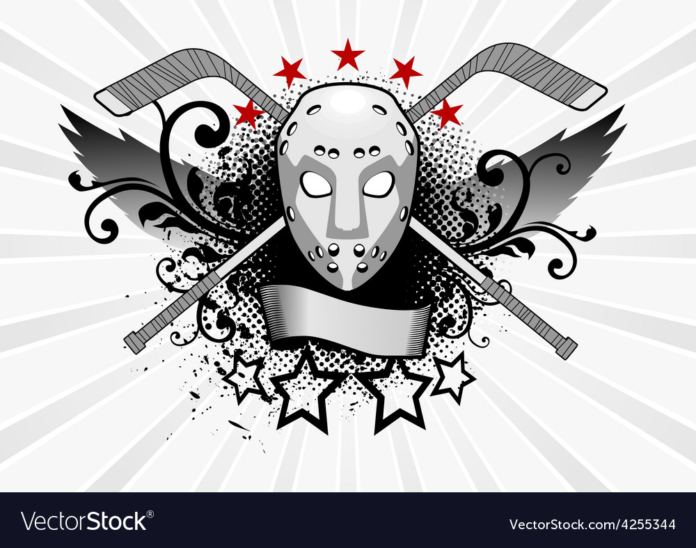 Hockey mask vector