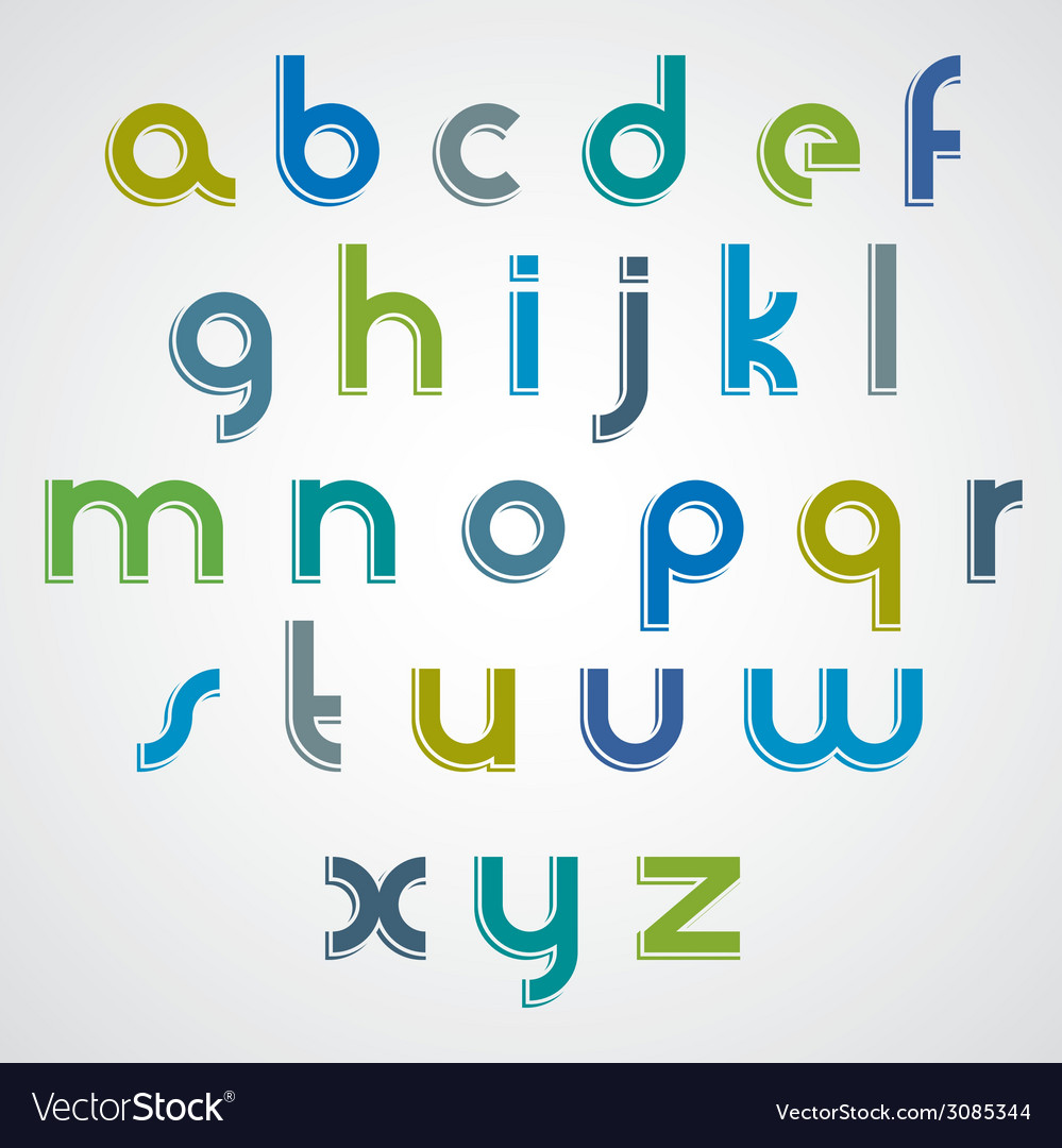 Modern style font vector | Price: 1 Credit (USD $1)