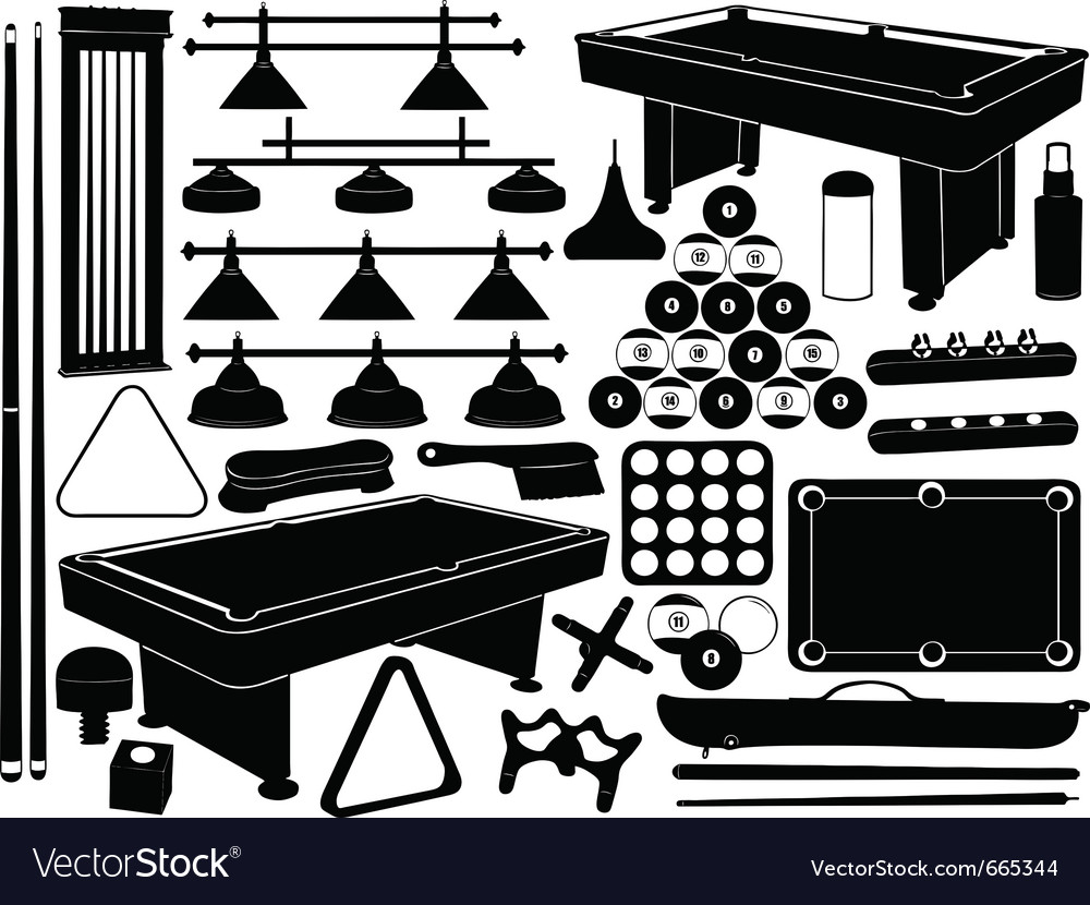 Pool or snooker equipment vector | Price: 1 Credit (USD $1)