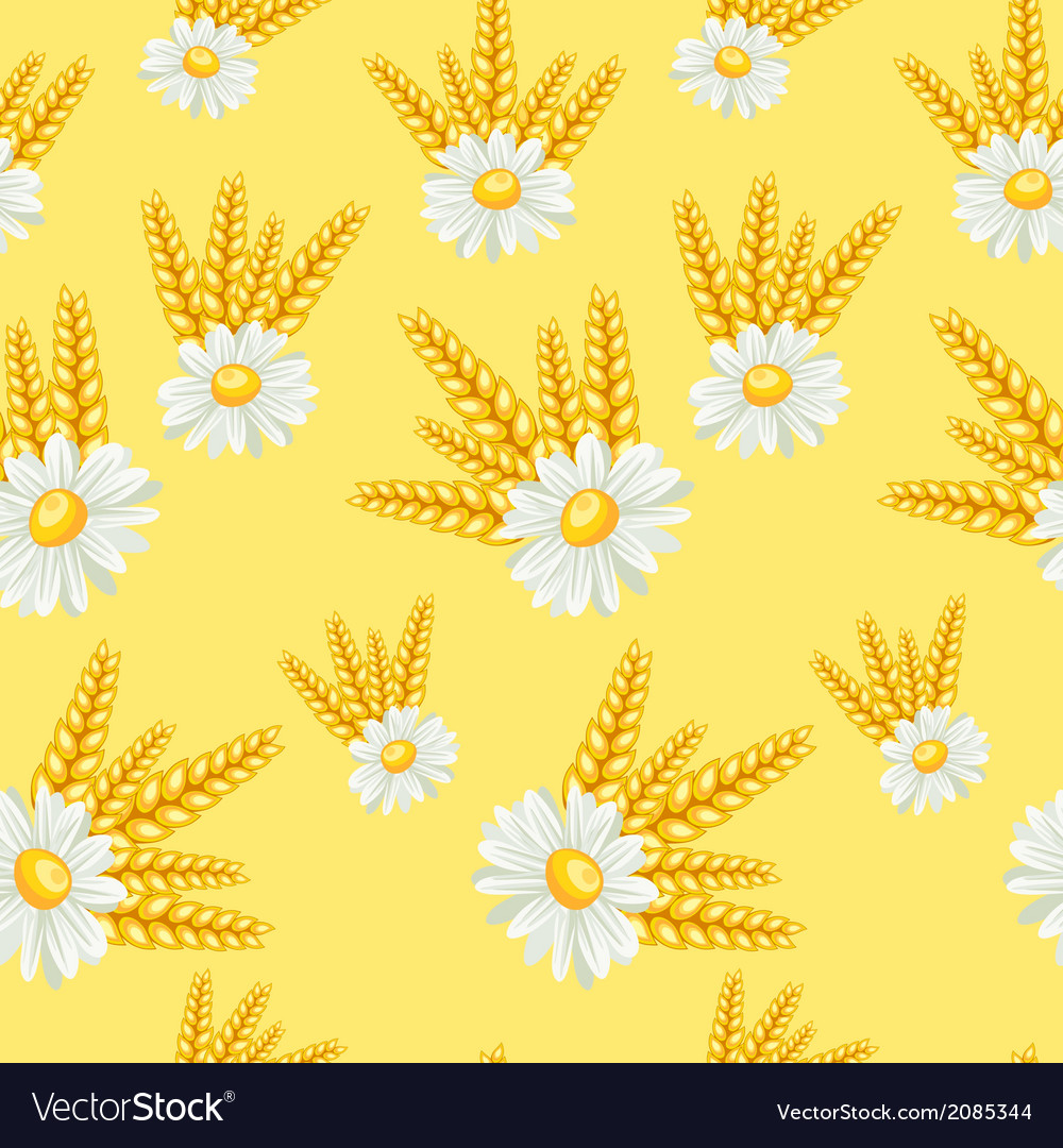 Summer field seamless pattern vector | Price: 1 Credit (USD $1)