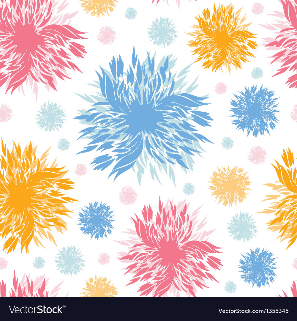 Abstract paint flowers seamless pattern background vector | Price: 1 Credit (USD $1)