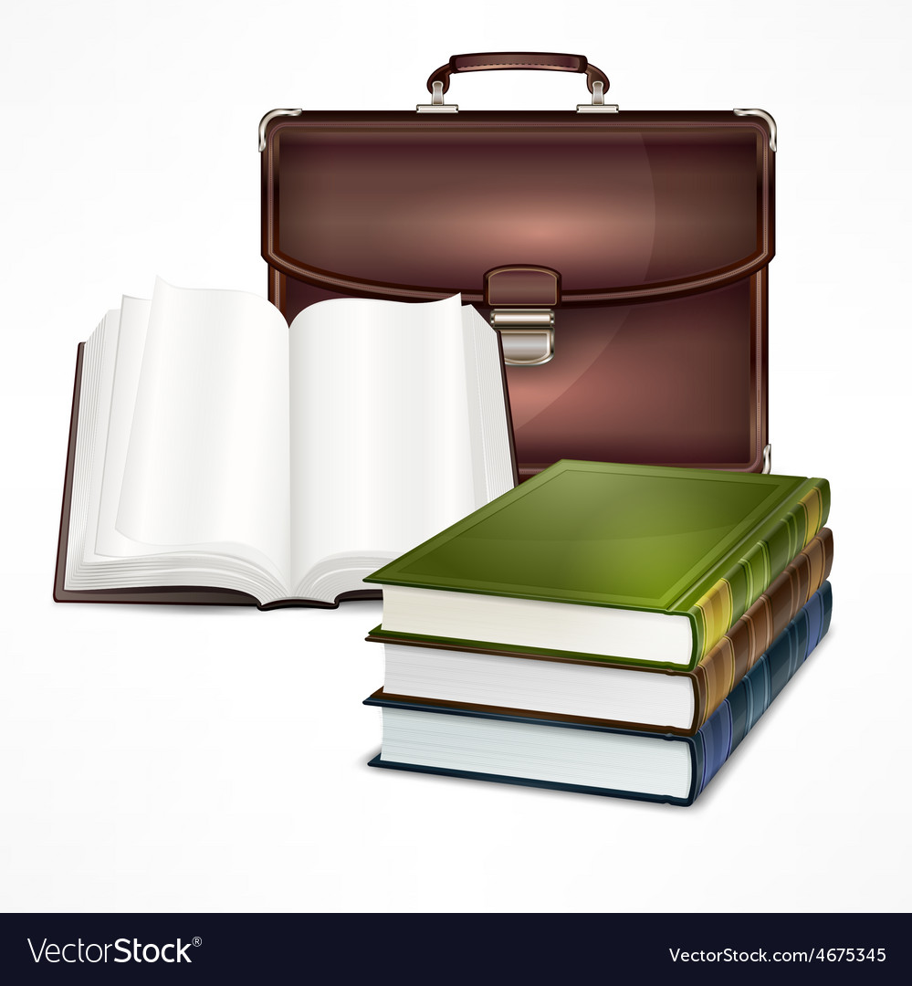Bag and book vector | Price: 3 Credit (USD $3)