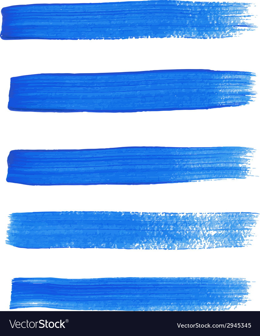 Blue ink brush strokes vector | Price: 1 Credit (USD $1)