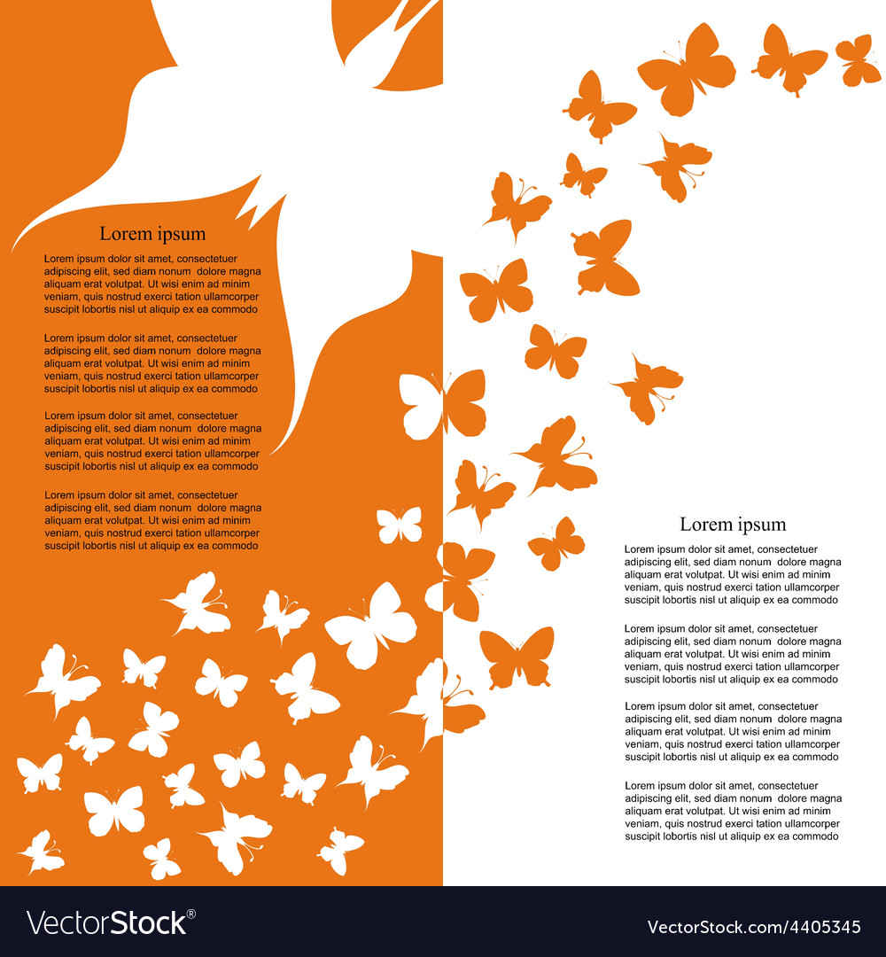 Brochure template design with butterflies vector | Price: 1 Credit (USD $1)