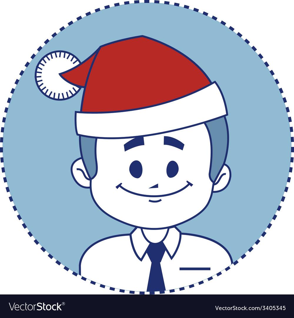 Christmas character smiling santa claus vector | Price: 1 Credit (USD $1)