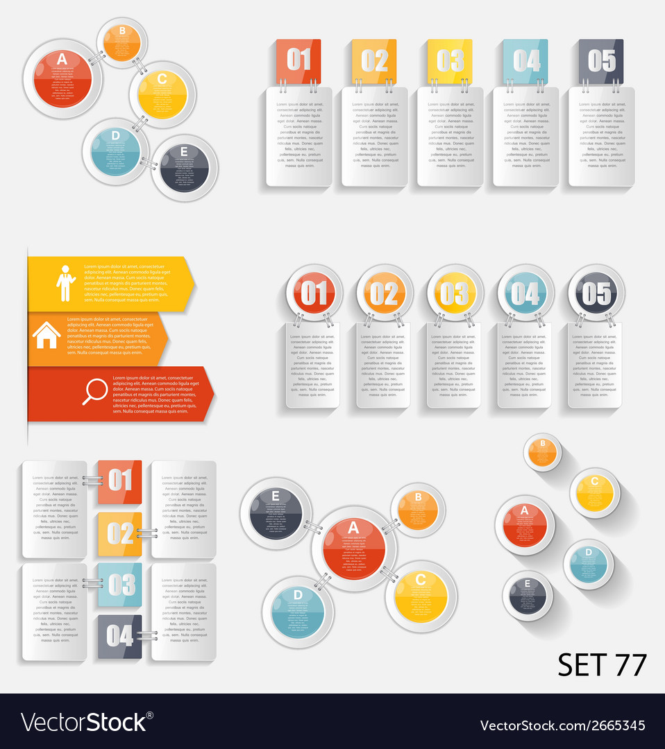 Collection of infographic templates for business vector | Price: 1 Credit (USD $1)