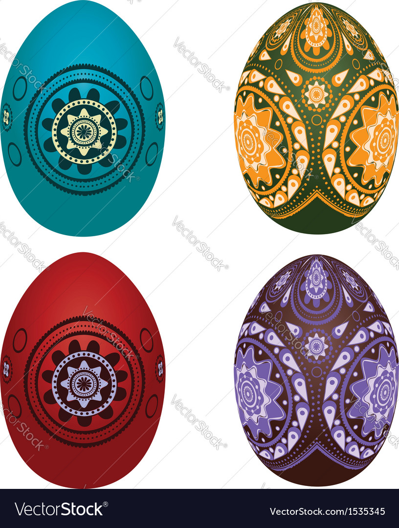 Colorful easter eggs2 vector | Price: 1 Credit (USD $1)