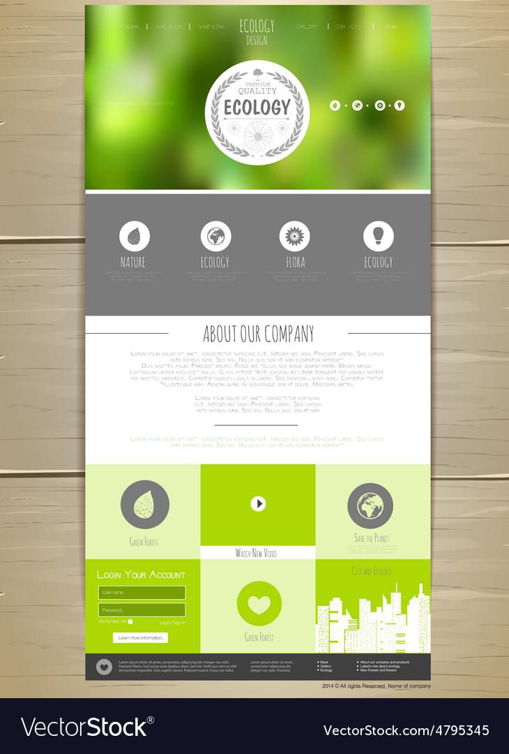 Ecology concept web site design vector   Price: 1 Credit (USD $1)