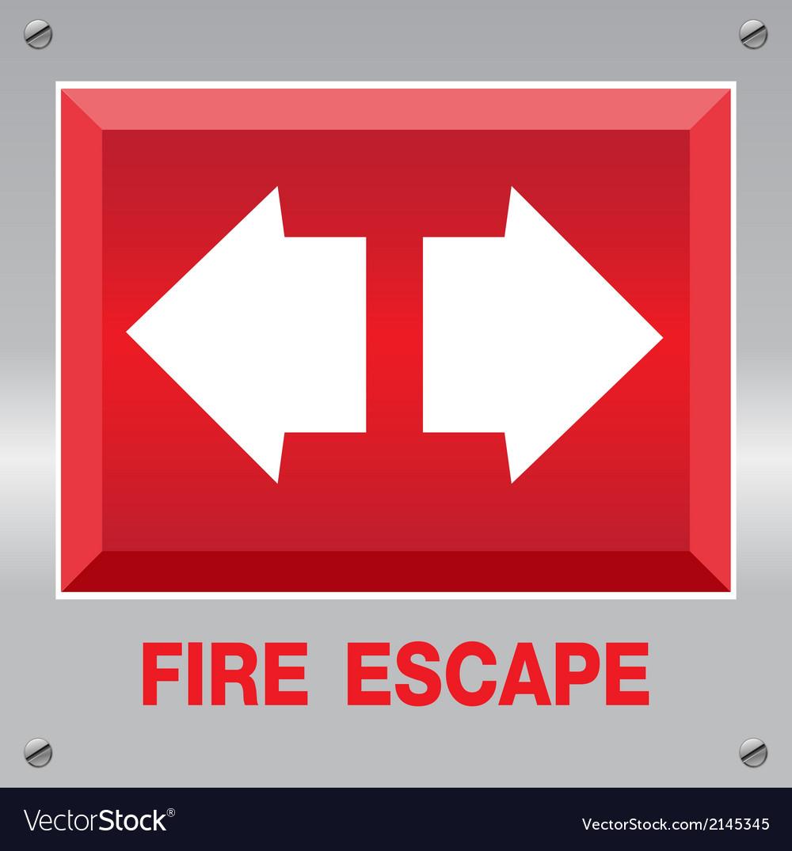 Fire escape sign vector | Price: 1 Credit (USD $1)