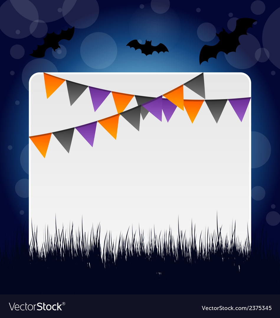 Halloween invitation with hanging flags vector | Price: 1 Credit (USD $1)
