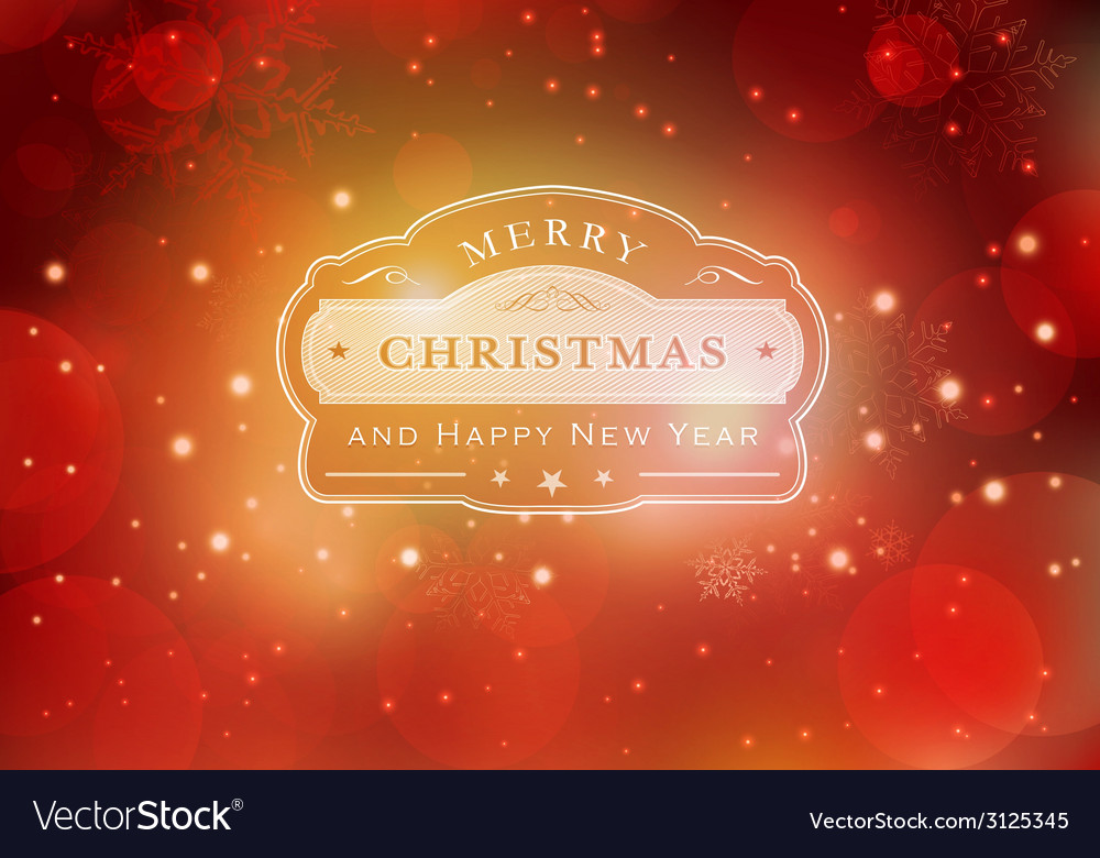 Red christmas typography background vector | Price: 1 Credit (USD $1)