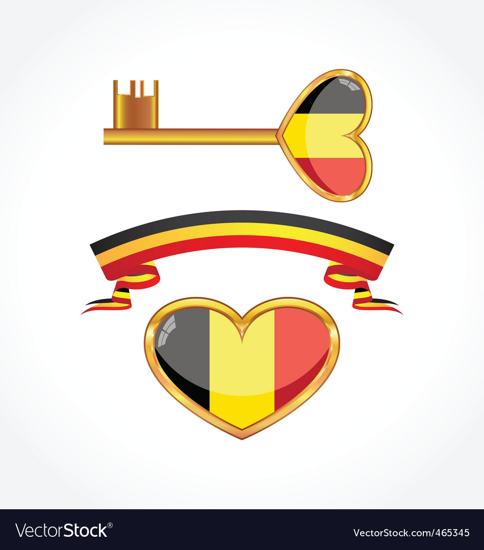 Set of symbols of belgium vector | Price: 1 Credit (USD $1)