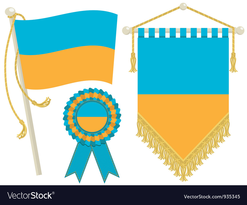Ukraine flags vector   Price: 1 Credit (USD $1)