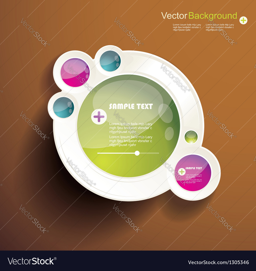 Abstract 3d circles background design vector | Price: 1 Credit (USD $1)