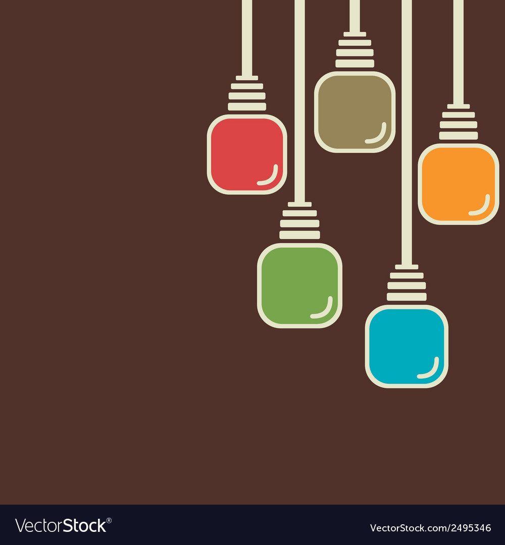 Abstract colorful bulb background vector | Price: 1 Credit (USD $1)