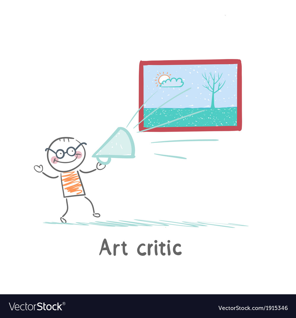 Art critic yells at the big picture vector | Price: 1 Credit (USD $1)