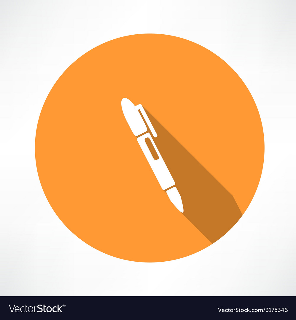 Ballpoint pen icon vector | Price: 1 Credit (USD $1)