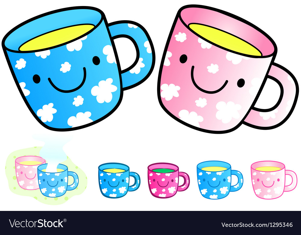 Different styles of baby cup sets vector | Price: 1 Credit (USD $1)
