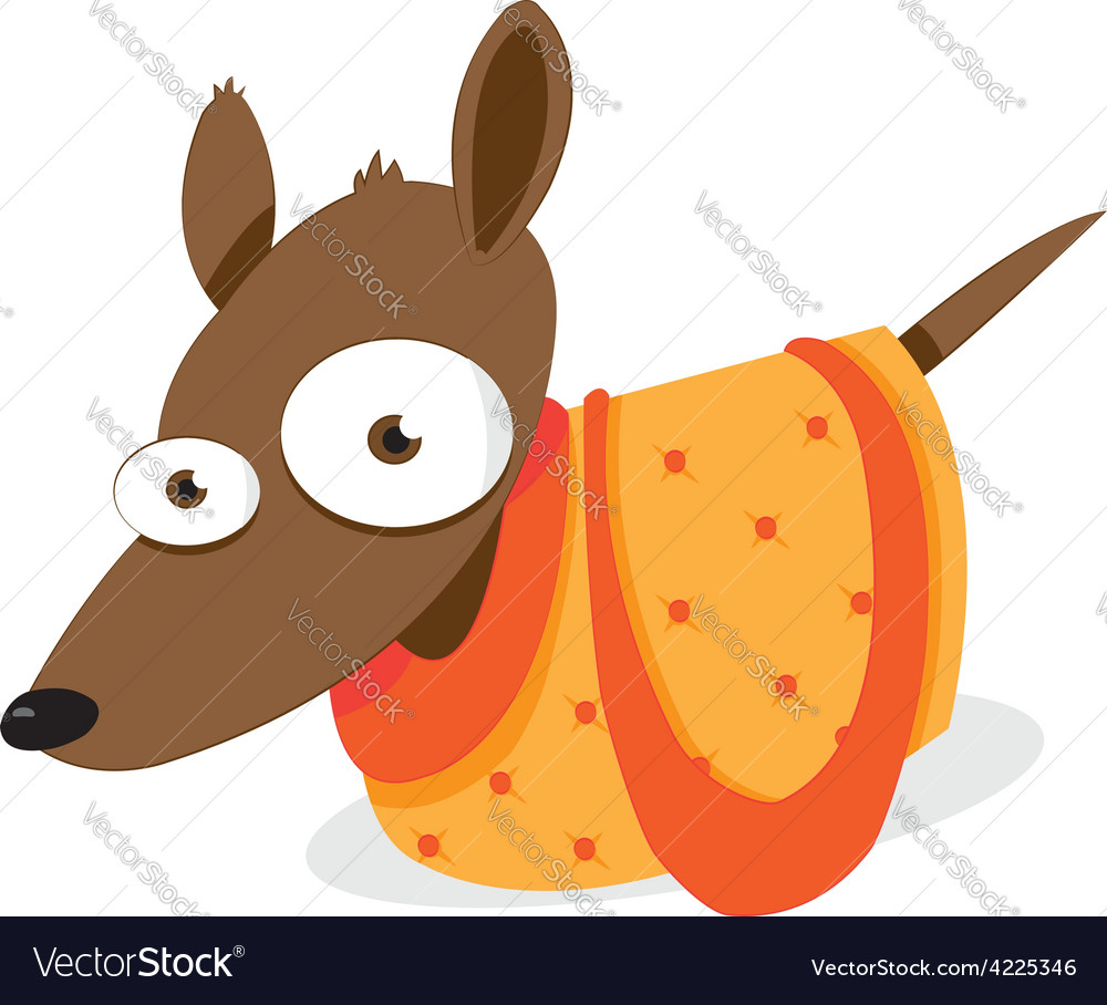 Dog in a bag vector | Price: 1 Credit (USD $1)