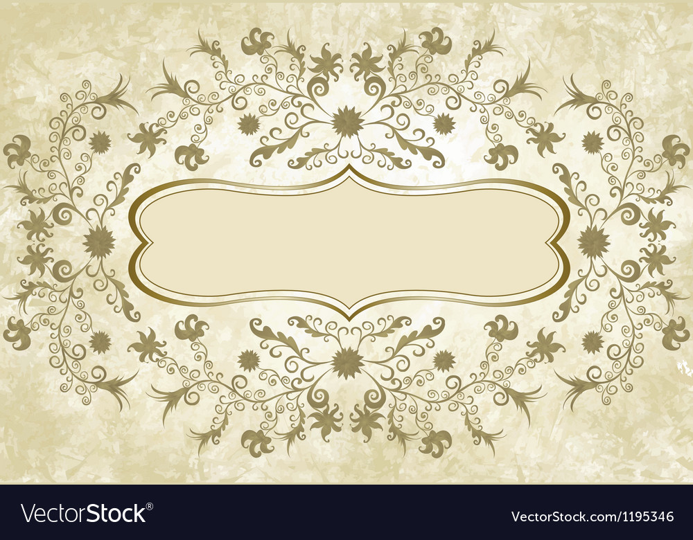 Flower frame in vintage style vector | Price: 1 Credit (USD $1)