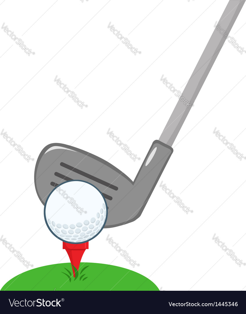 Golf club and ball ready vector | Price: 1 Credit (USD $1)
