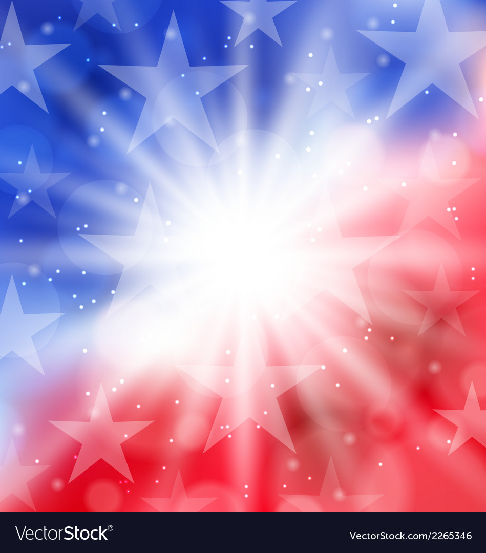 Happy 4th of july card with place for text vector | Price: 1 Credit (USD $1)