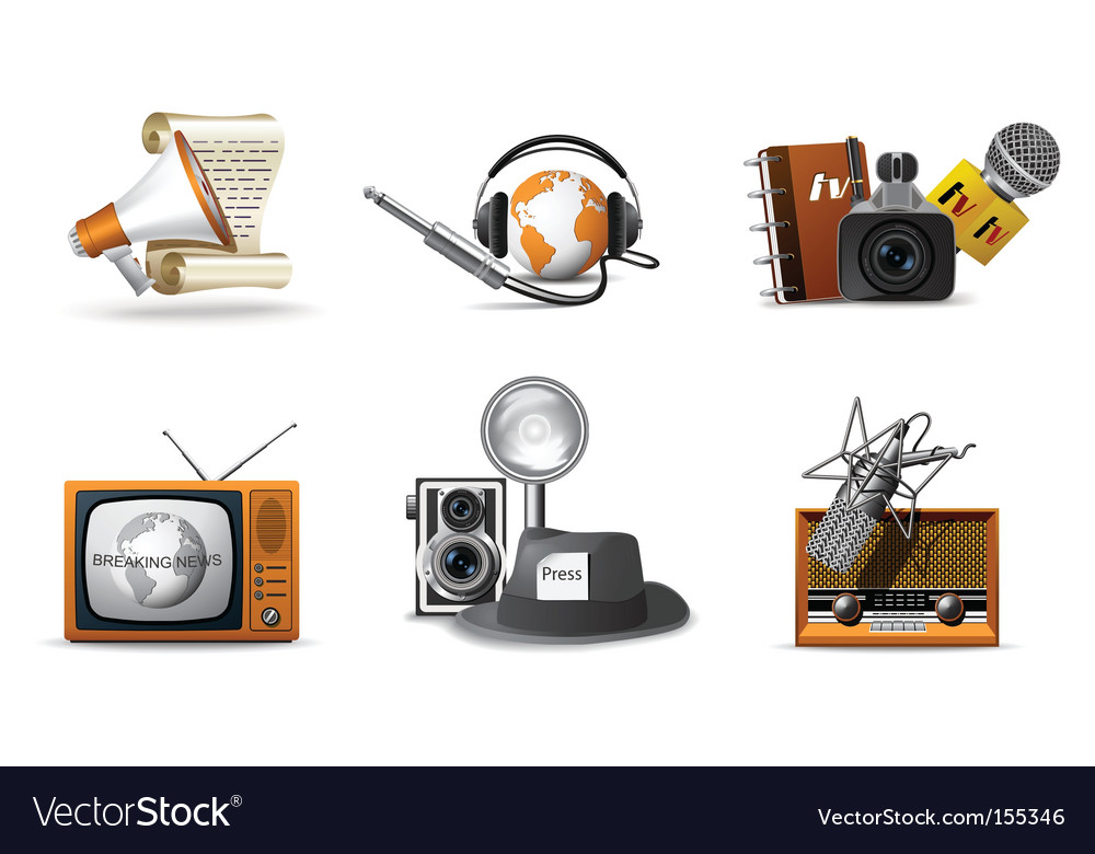 Journalist and press icons vector | Price: 3 Credit (USD $3)