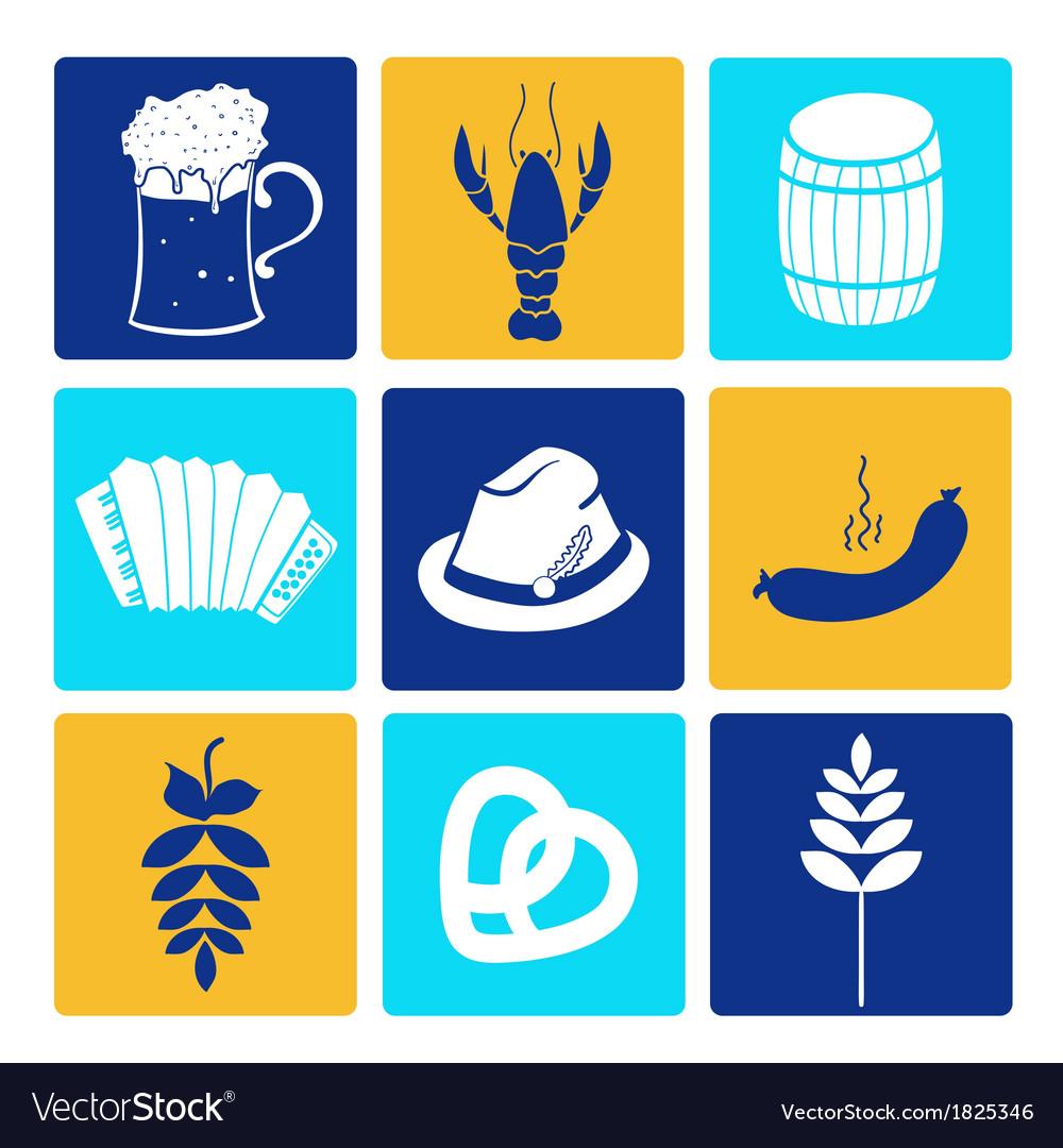 Oktoberfest icons vector | Price: 1 Credit (USD $1)