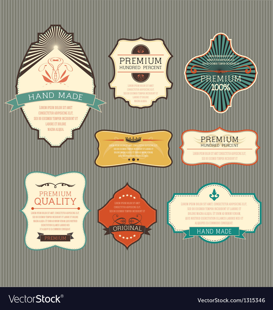 Vintage label for retro banners vector | Price: 1 Credit (USD $1)